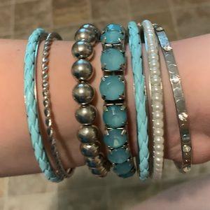 Plus Size Bangle Bracelet Set (7 pieces)